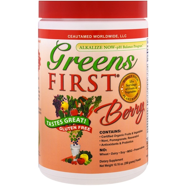 Greens First, Superfood Antioxidant Shake, Berry , 10.16 oz (288 g) (Discontinued Item)