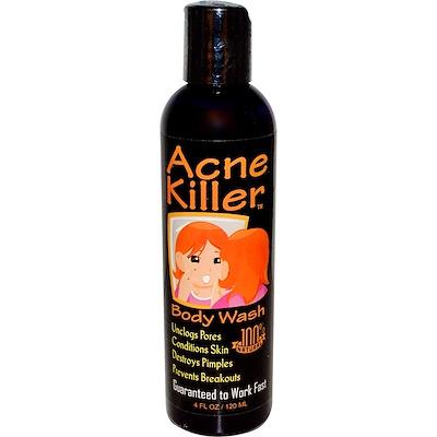 Купить Acne Killer, гель для душа 4 жидких унции (120 мл)