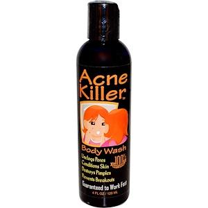 Гринсэйшнс, Acne Killer, Body Wash, 4 fl oz (120 ml) отзывы покупателей