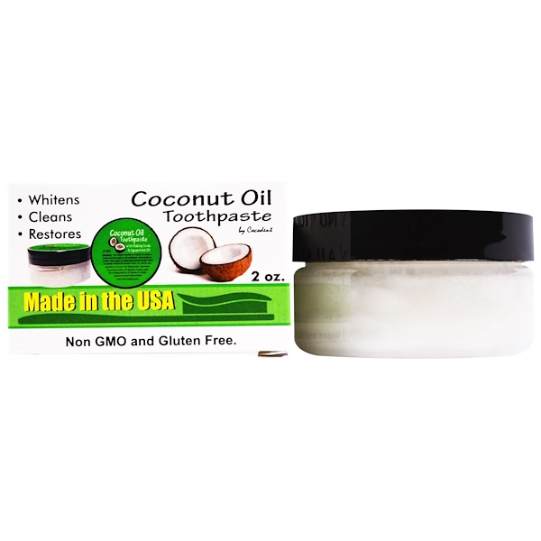 Greensations, Coconut Oil Toothpaste, with Baking Soda & Spearmint Oil, 2 oz (Discontinued Item)