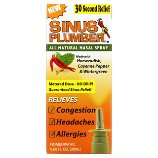 Greensations, Sinus Plumber, All Natural Nasal Spray, 0.68 fl oz (20 ml)