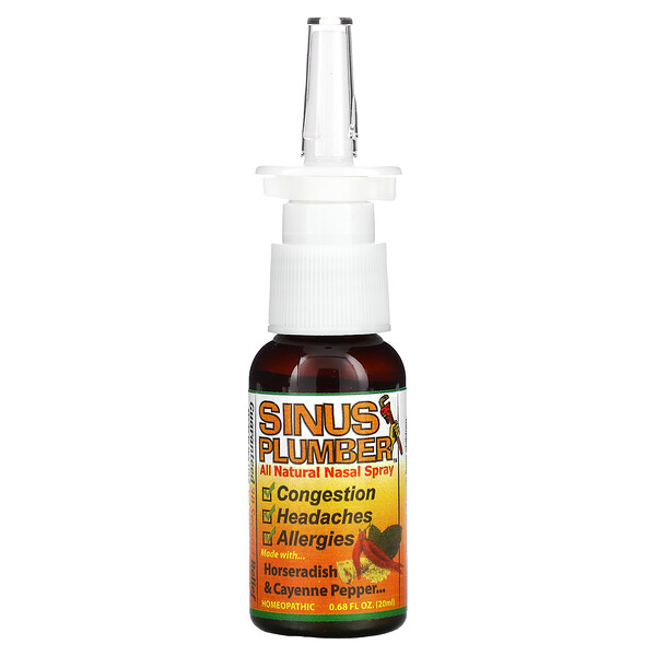 Greensations, Sinus Plumber, Espray Nasal Completamente Natural, 0.68 fl oz (20 ml)
