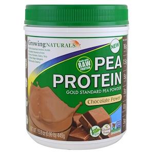 Гроуинг Нэчуралс, Pea Protein, Chocolate Power, 15.8 oz (449 g) отзывы