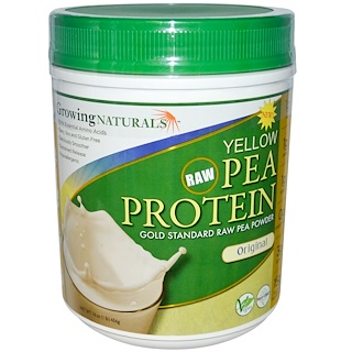 Growing Naturals, Yellow Pea Protein, Original, 16 oz (456 g)