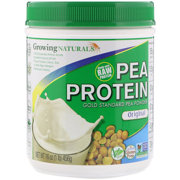 Growing Naturals, Pea Protein, Original, 1 lb (456 g) (Discontinued Item)