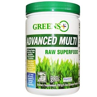 Greens Plus, 어드밴스드 멀티 로우 슈퍼푸드, 9.4 온스  (276 그램) 그린 파우더