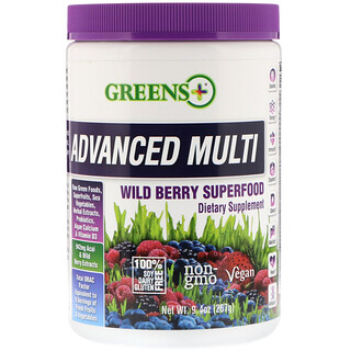 Greens Plus, Advanced Multi, Wild Berry Superfood, 9.4 oz (267 g)