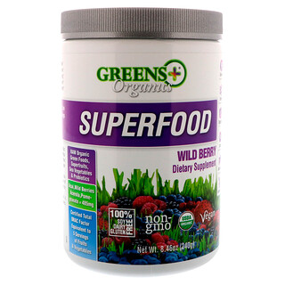 Greens Plus, Organics Superfood, Wild Berry, 8.46 oz (240 g)
