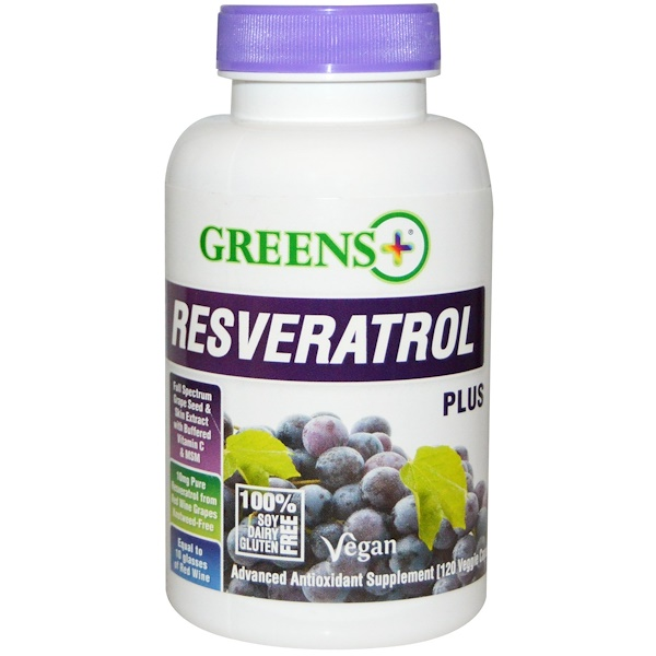 Greens Plus, Resveratrol Plus, 120 Veggie Caps (Discontinued Item)