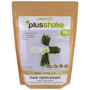 Greens Plus, Plusshake, заменитель пищи, ваниль, 1.4 фунта (630 г)