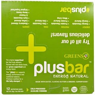 Greens Plus, 플러스바, 에너지 천연, 12 바, 2oz(각 59g)