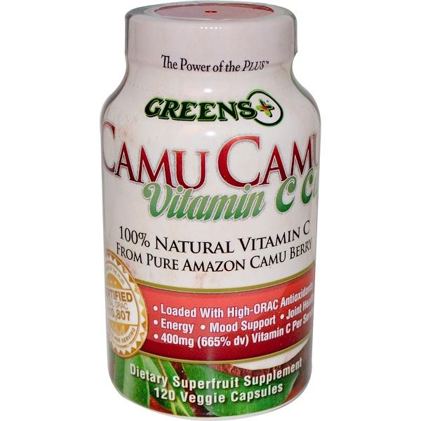 Greens Plus, Капсулы витамина С из каму-каму, 120 капсул на растительной основе (Discontinued Item)