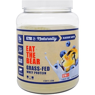 Eat the Bear, Grass-Fed Whey Protein, Blueberry Muffin, 1.55 lbs (704 g)