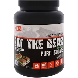 Eat the Bear, Grizzly Protein, Pure Isolate, Mint Chocolate, 2 lbs (908 g)