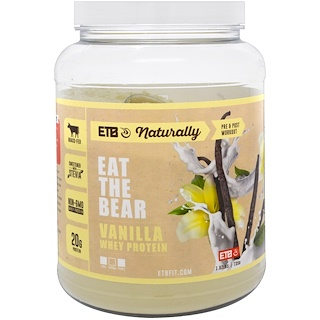 Eat the Bear, Grass-Fed Whey Protein, Vanilla, 1.62 lbs (735 g)