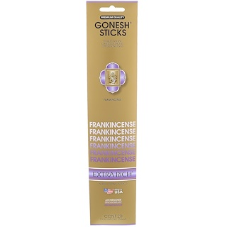Gonesh, Extra Rich Incense Sticks, Frankincense, 20 Sticks