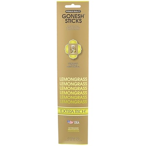 Gonesh, Extra Rich Incense Sticks, Lemongrass, 20 Sticks отзывы
