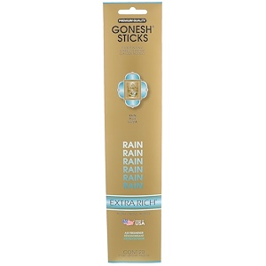 Gonesh, Extra Rich Incense Sticks, Rain, 20 Sticks отзывы