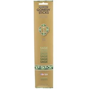 Gonesh, Extra Rich Incense Sticks, Sage, 20 Sticks отзывы