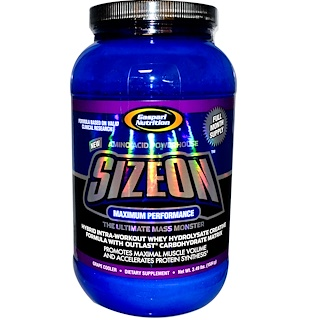 Gaspari Nutrition, SizeOn, Whey Hydrolysate Creatine Formula, Grape Cooler, 3.49 lbs (1584 g)