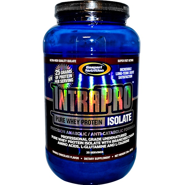 Gaspari Nutrition, IntraPro, Pure Whey Protein Isolate, Double Chocolate Flavor, 2 lbs (907 g) (Discontinued Item)