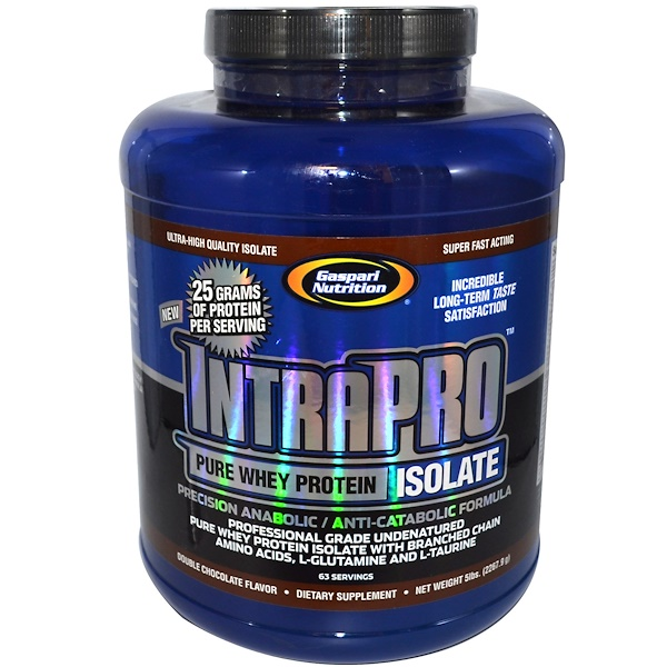 Gaspari Nutrition, IntraPro, Pure Whey Protein Isolate, Double Chocolate Flavor, 5 lbs (2267.9 g) (Discontinued Item)