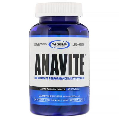 Купить Anavite, лучший поливитамин для производительности, 180 таблеток