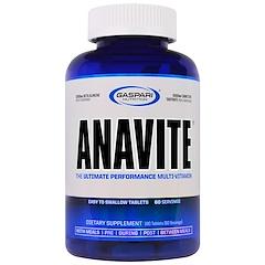 Gaspari Nutrition, Anavite、究極のマルチビタミン・サプリメント180 錠