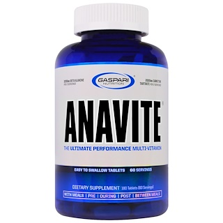 Gaspari Nutrition, Anavite, The Ultimate Performance Multi-Vitamin, 180 Tablets