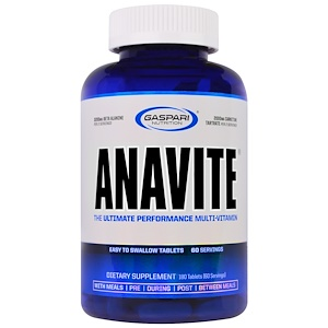 Gaspari Nutrition, Anavite, лучший поливитамин для производительности, 180 таблеток