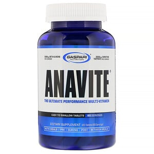 Гаспари Нутришэн, ANAVITE, The Ultimate Performance Multi-Vitamin, 180 Tablets отзывы покупателей