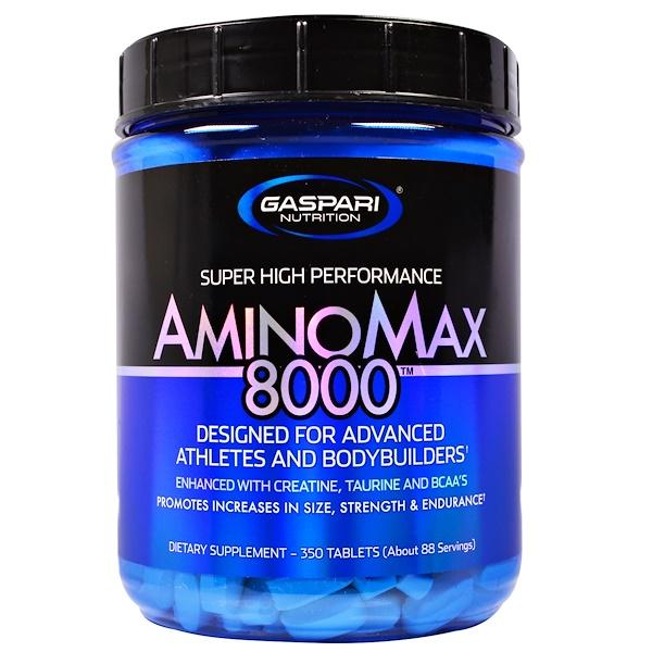 Gaspari Nutrition, Amino Max 8000, 350 таблеток (Discontinued Item)