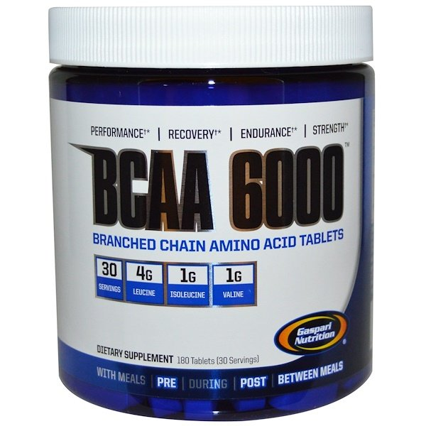 Gaspari Nutrition, BCAA 6000, 180 Tablets
