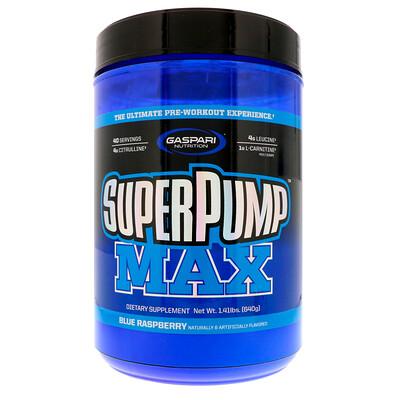 Купить Gaspari Nutrition SuperPump Max, синий малиновый лед, 640 г (1, 41 фунта)