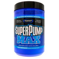Gaspari Nutrition, スーパーパンプマックス、 ブルーラズベリーIce、 1.41 lbs (640 g)