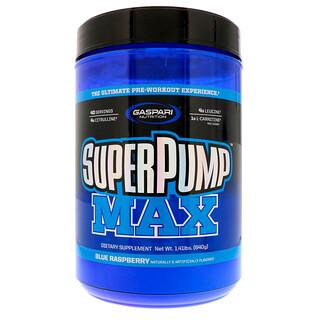 Gaspari Nutrition, SuperPump Max, Hielo de frambuesa azul, 1.41 lbs (640 g)