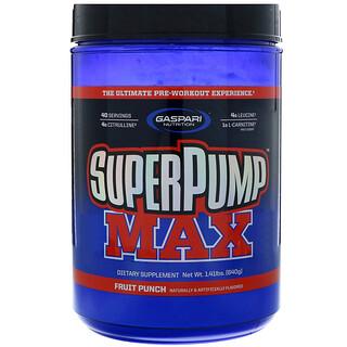 Gaspari Nutrition, スーパーパンプマックス、 究極プレワークアウト サプリメント、 フルーツパンチブラスト、 1.41 lbs (640 g)