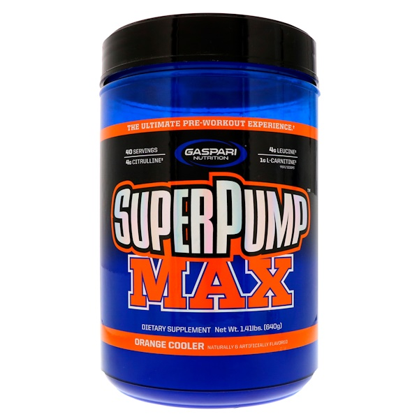 SuperPump Max,  Refreshing Orange, 1.41 lbs (640 g)