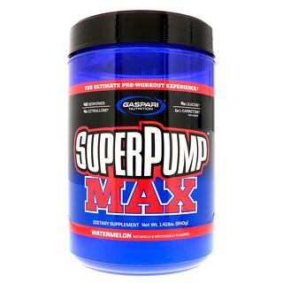 Gaspari Nutrition, スーパーパンプマックス、 究極プレワークアウト サプリメント エクスペリエンス、 ウォーターメロン、 1.41 lbs (640 g)