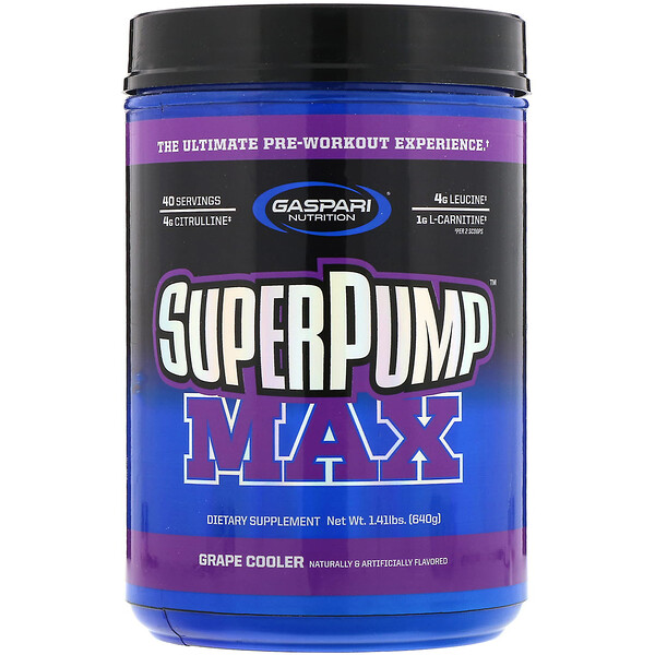 SuperPump Max, Grape Cooler, 1.41 lbs (640 g)