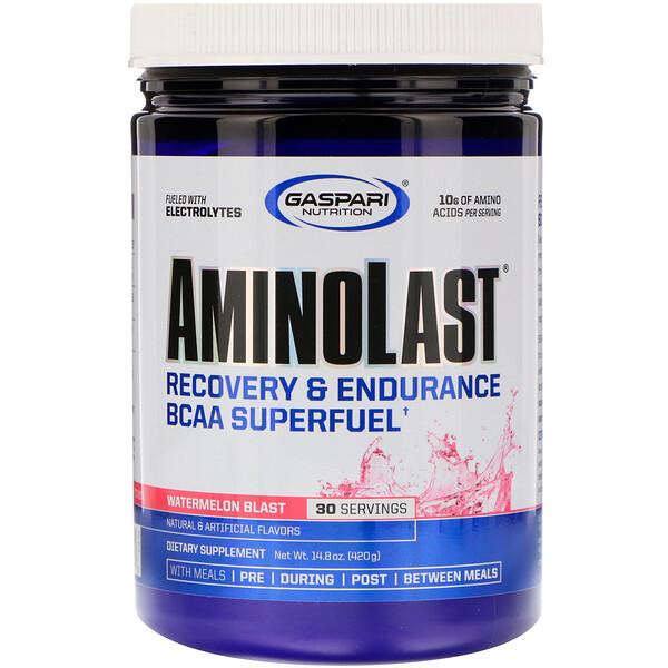 Aminolast,修復&耐力,支鏈氨基酸超級燃料,西瓜味,14.8 盎司(420 克)