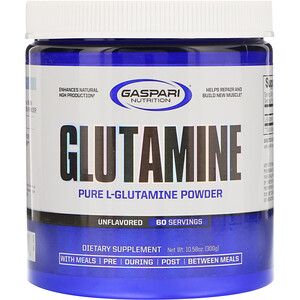 Гаспари Нутришэн, Glutamine, Unflavored, 10.58 oz (300 g) отзывы покупателей