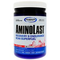 Aminolast, супер-BCAA для восстановления и выносливости, фруктовый пунш, 420 г (14,8 унций) - фото
