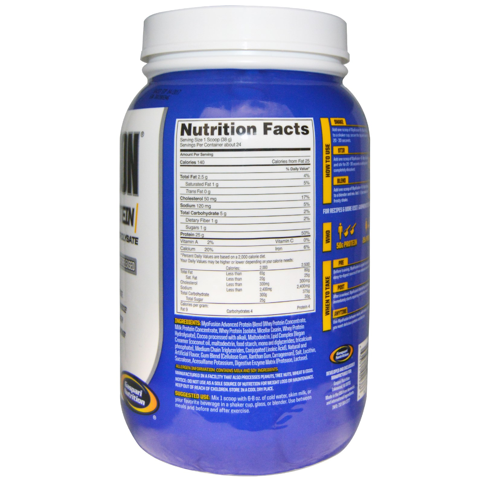 Gaspari Nutrition, Myofusion Advanced