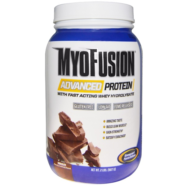 Gaspari Nutrition, Myofusion Advanced Protein, Chocolate, 2 lbs (907 g) (Discontinued Item)