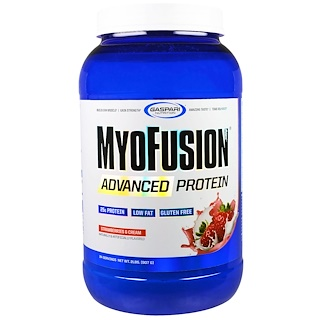 Gaspari Nutrition, MyoFusion, Advanced Protein, Strawberries & Cream, 2 lbs (907 g)