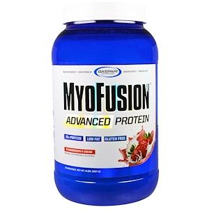 Гаспари Нутришэн, MyoFusion, Advanced Protein, Strawberries & Cream, 2 lbs (907 g) отзывы покупателей