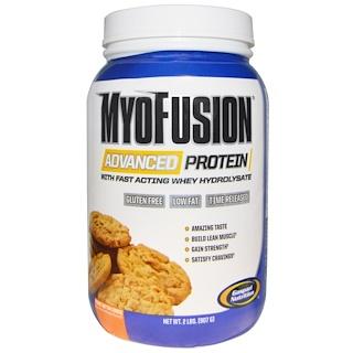 Gaspari Nutrition, MyoFusion、 アドバンスドプロテイン、 ピーナッツバタークッキー、 2 ポンド (907 g)