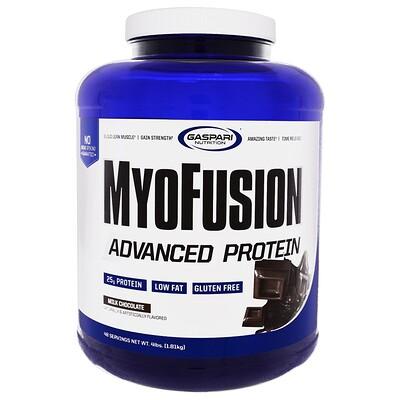 MyoFusion, Advanced Protein, Milk Chocolate, 4 lbs (1.81 kg)