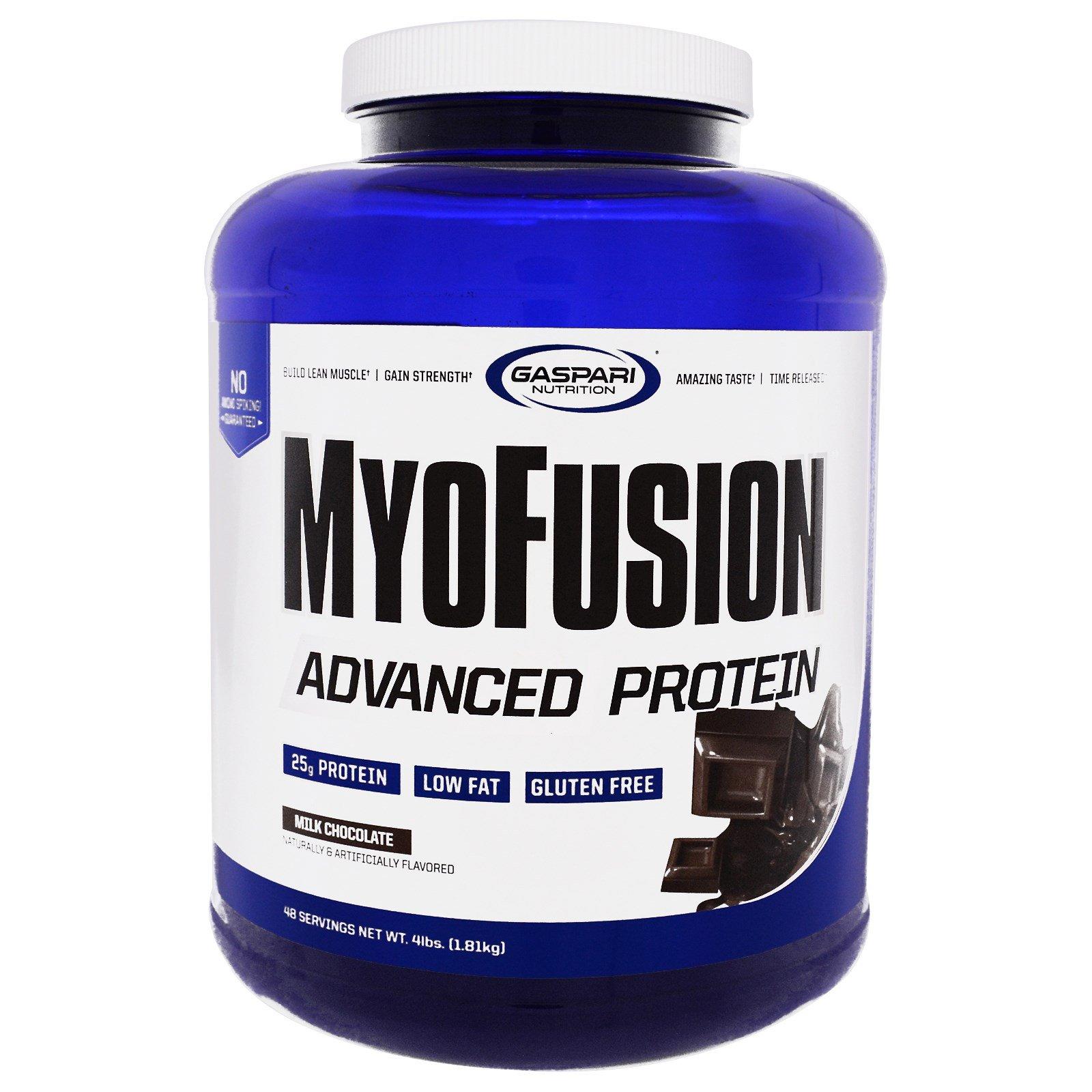 Gaspari Nutrition, MyoFusion, Advanced Protein, Milk Chocolate, 4 lbs (1.81  kg)